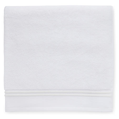 Aura Washcloth, White/Ivory