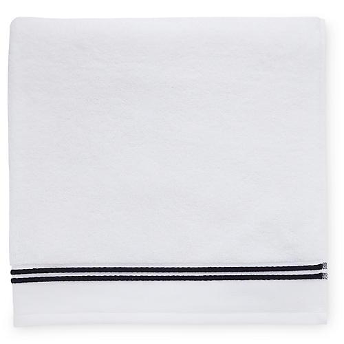Aura Washcloth, White/Black