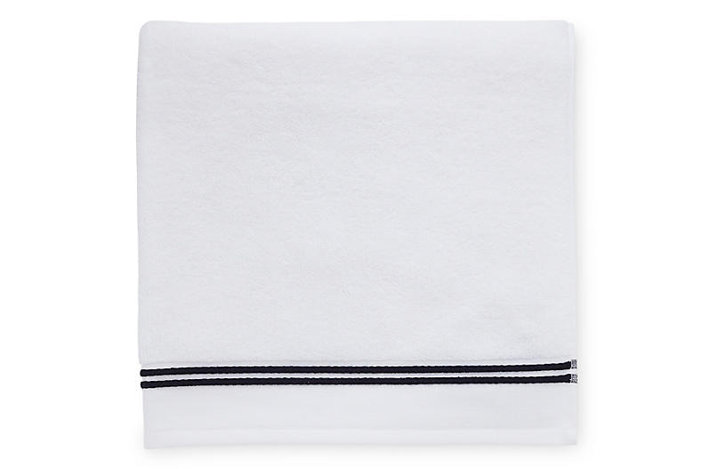 Aura Washcloth, White/Black