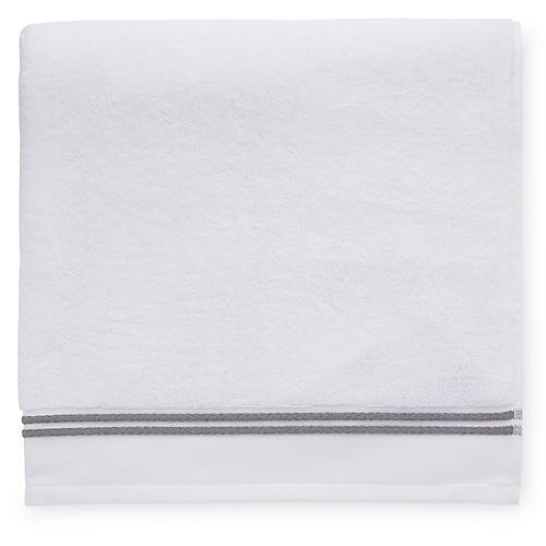 Aura Hand Towel, White/Iron