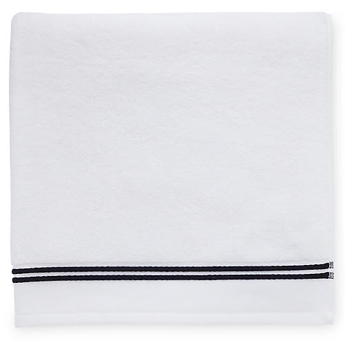 Aura Hand Towel, White/Black
