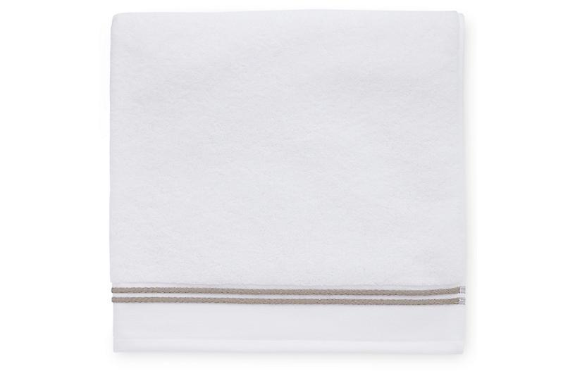 Aura Hand Towel, White/Stone