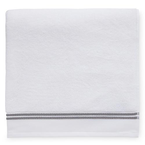 Aura Bath Towel, White/Iron