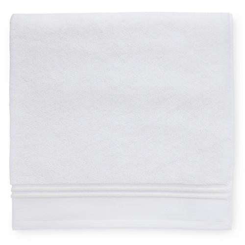 Aura Bath Towel, White/Ivory