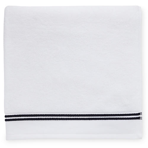 Aura Bath Towel, White/Black