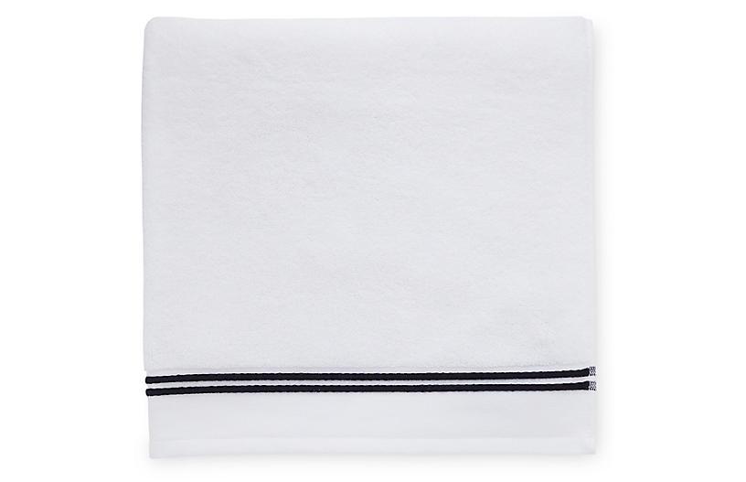 Aura Bath Towel, White/Black