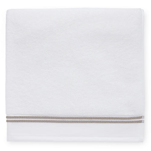 Aura Bath Towel, White/Stone