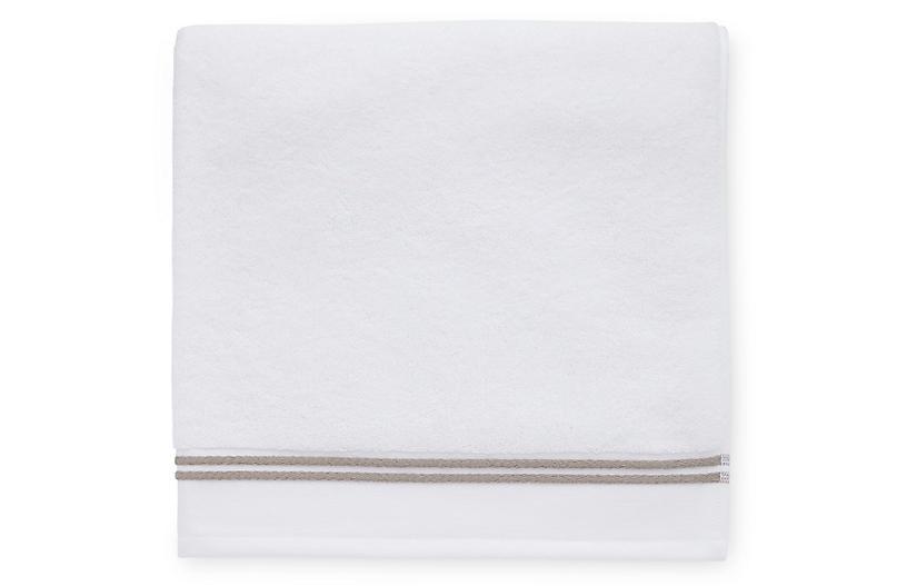 Aura Bath Towel, White/Stone