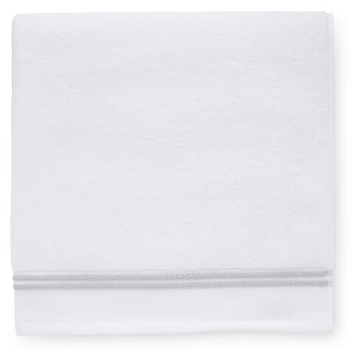 Aura Bath Sheet, White/Gray