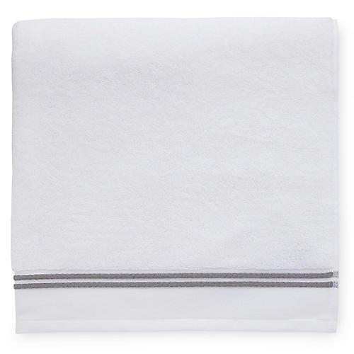 Aura Bath Sheet, White/Iron