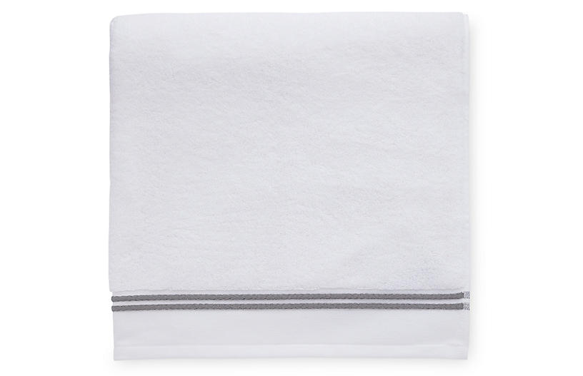 Aura Bath Sheet, White/Iron