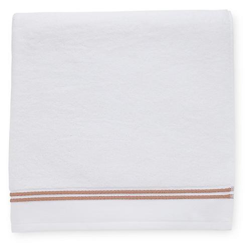 Aura Bath Sheet, White/Copper