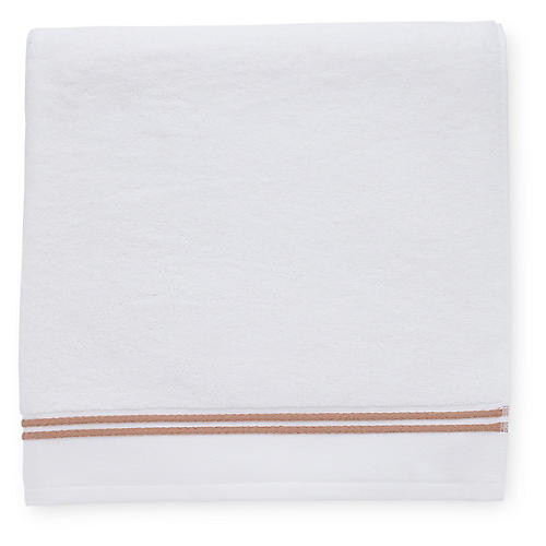 Aura Bath Sheet, White/Copper