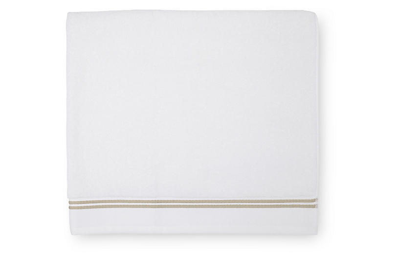 Aura Bath Sheet, White/Almond