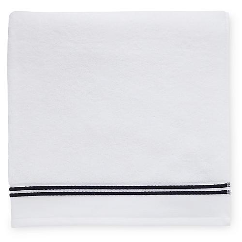 Aura Bath Sheet, White/Black