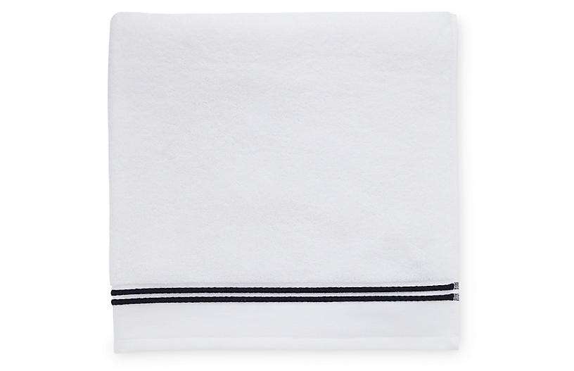 Aura Bath Sheet, White/Black