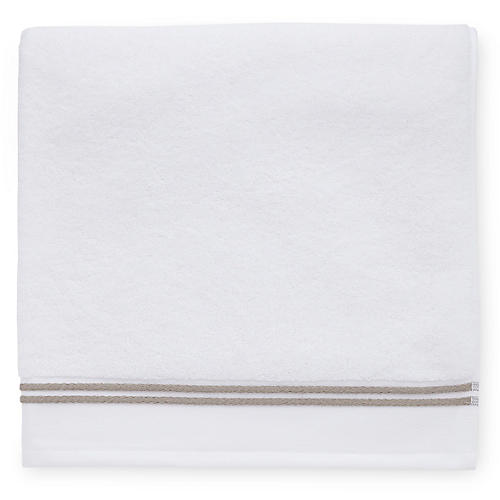 Aura Bath Sheet, White/Stone