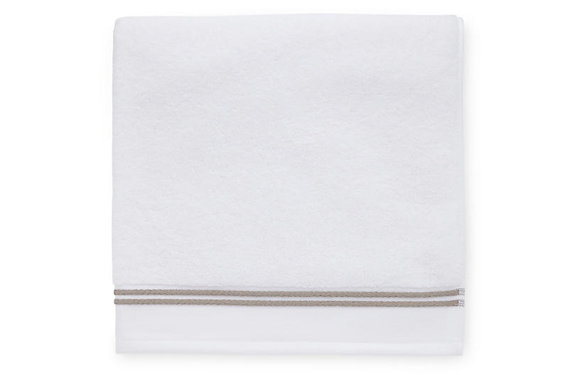 Aura Bath Sheet, White/Stone
