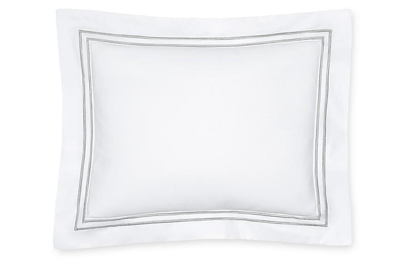 Grande Hotel Boudoir Sham, White/Silver