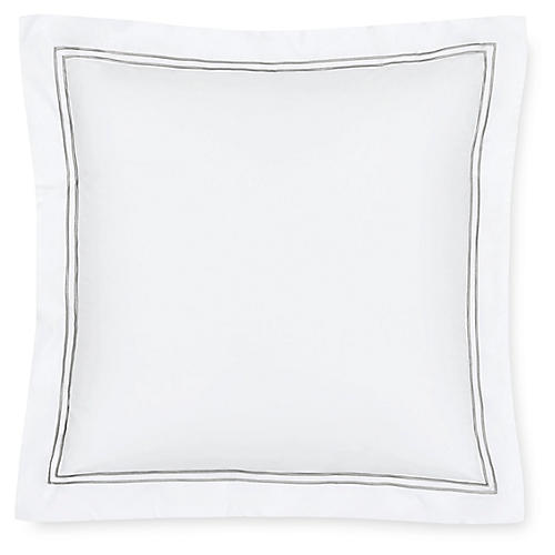 Grande Hotel Continental Sham, White/Silver