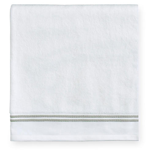 Aura Bath Towel, White/Celadon