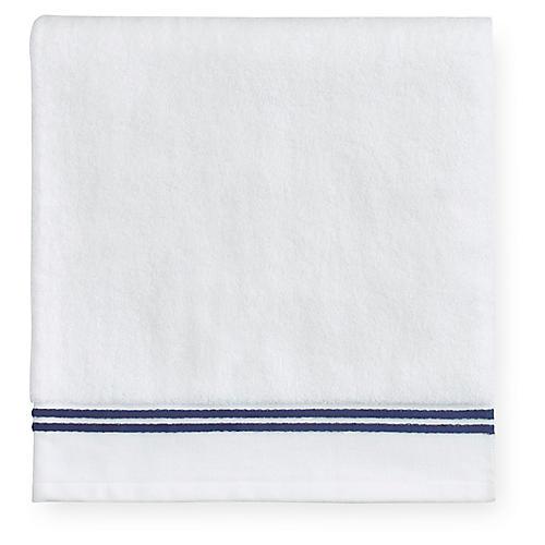 Aura Washcloth, White/Dark Blue