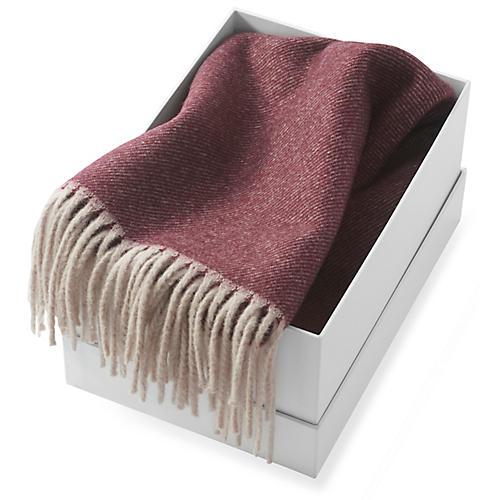 Tartini Merino Wool Scarf, Merlot