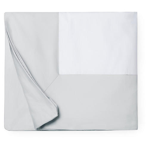 Casida Duvet Cover, White/Lunar