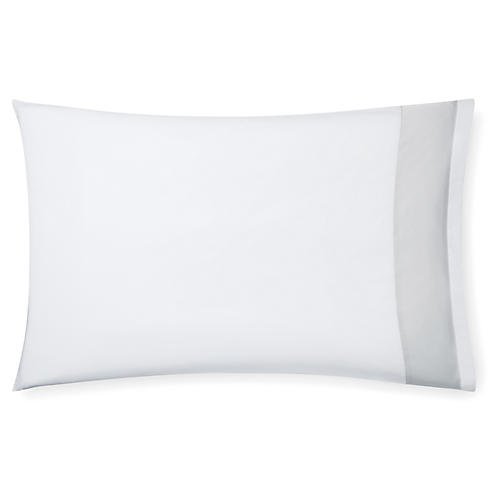 S/2 Casida Pillowcases, White/Lunar