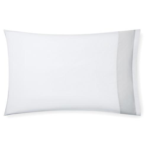 S/2 Casida Pillowcases, White/Lunar