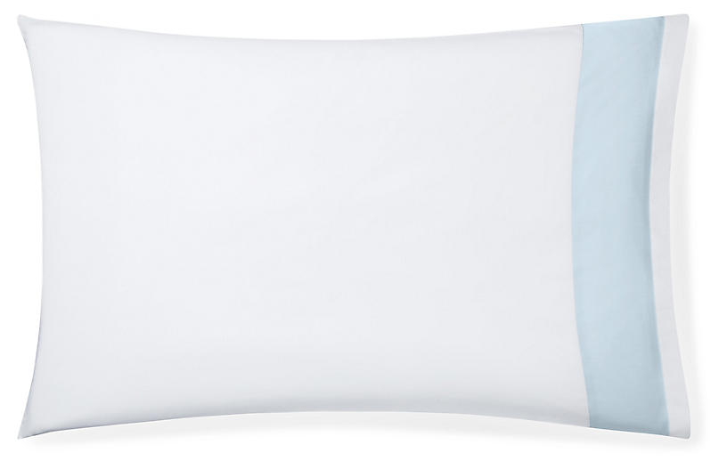 S/2 Casida Pillowcases, White/Powder