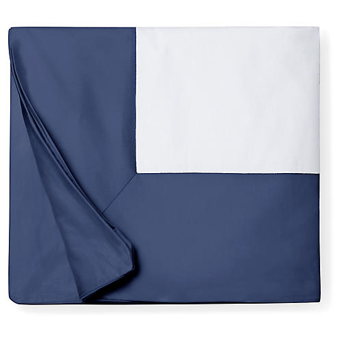 Casida Duvet Cover, White/Delft