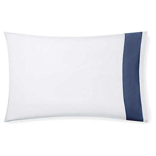 S/2 Casida Pillowcases, White/Delft