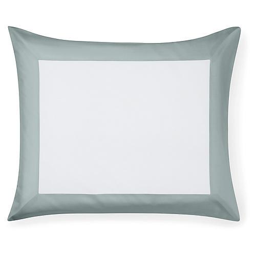 Casida Continental Sham, White/Seagreen