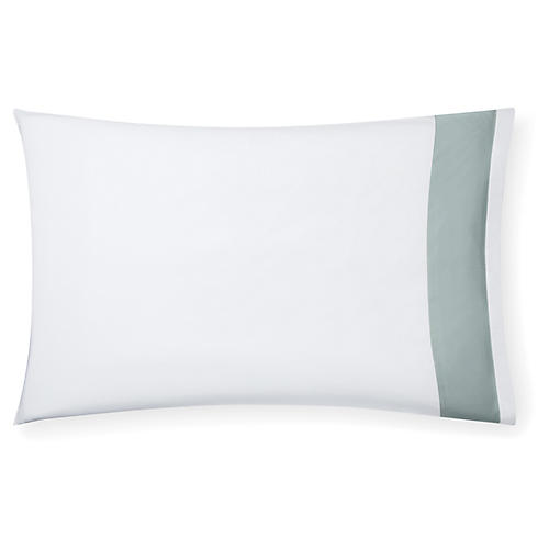 S/2 Casida Pillowcases, White/Seagreen