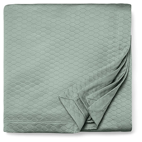 Favo Coverlet, Seagreen