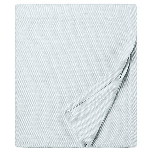 Terzo Bed End Cotton Throw, Seagreen