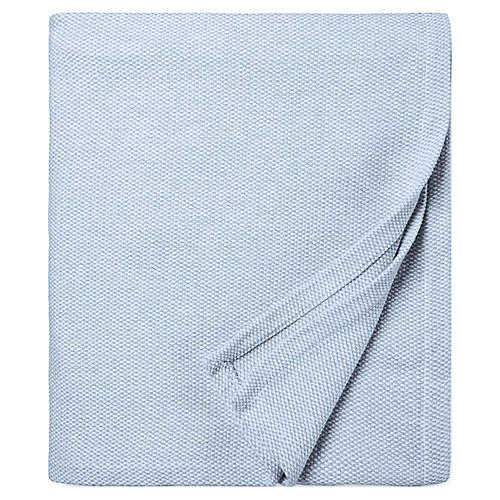 Terzo Bed End Cotton Throw, Ocean