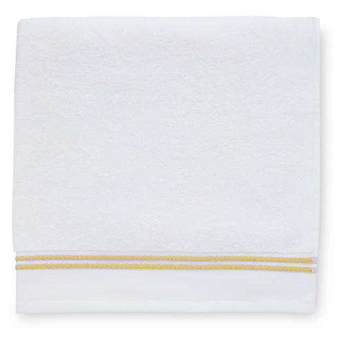 Aura Hand Towel, White/Corn