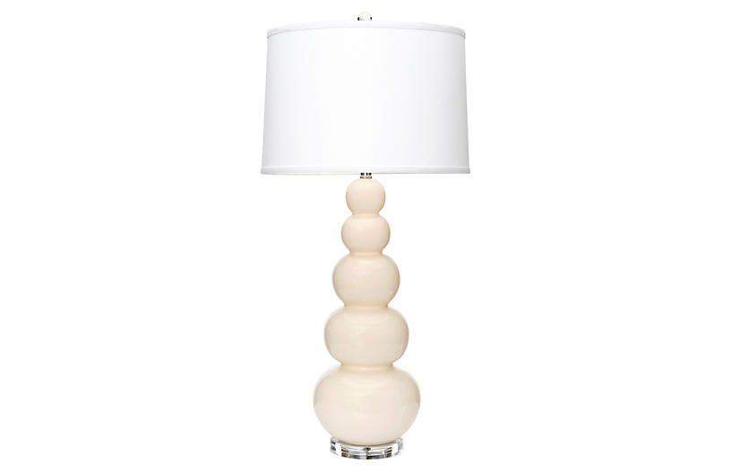 Trousdale Table Lamp, Eggshell