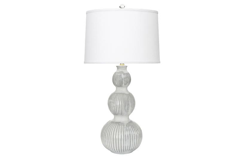 Venice Table Lamp, White/Gray