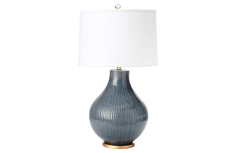Santa Barbara Table Lamp, Midnight Blue