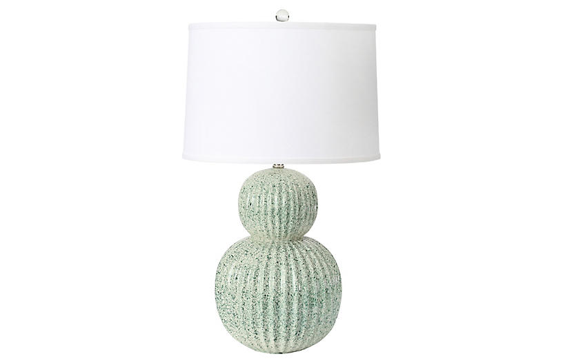 Holmby Table Lamp, Emerald