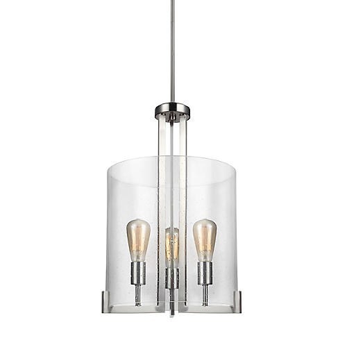 Dawes 3-Light Lantern, Brushed Nickel