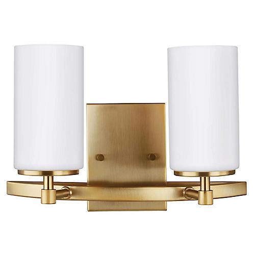 Alturas 2-Light LED Bath Bar, Satin Bronze
