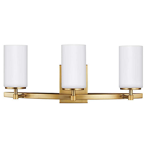 Alturas 3-Light LED Bath Bar, Satin Bronze