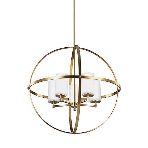 Alturas 5-Light LED Chandelier, Satin Bronze