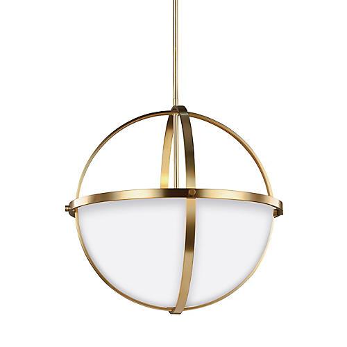 Alturas 3-Light LED Pendant, Satin Bronze