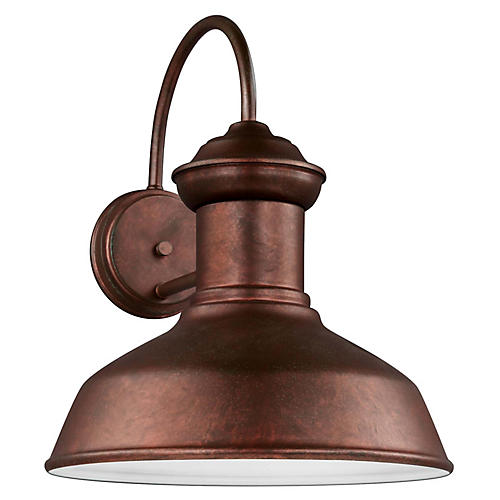 Fredericksburg Large Outdoor Sconce, Copper