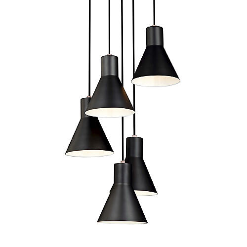 Towner 5-Light Pendant, Satin Bronze